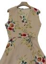 Новые женщины Boho Floral Print V Шея без рукавов Летнее пляжное платье