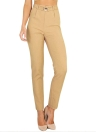 New Women High Waist Pockets Solid OL Work Wear Pencil Casual Pants