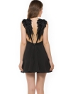Sexy Women Lace Angel Wings Spaghetti Strap Backless Beach Slim Dress