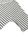 Women Two-piece Set Stripe Jumpsuit Romper Strap Bow Waist Tie Playsuit