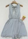 Vintage Mujeres Maxi Verano Vestido Flor Imprimir Plunge V-cuello Doblar Dobladillo Vestido Azul Oscuro / Blanco