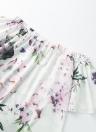 Robe en une seule pièce à manches courtes pour imprimé floral sans élastique