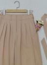Pantalones anchos de cintura alta cremallera recta pantalones de las mujeres ocasionales
