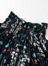Fahion aus Schulter Shirred Slash Neck 3/4 Ärmel Damen Bluse