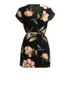 Moda de cárdigan flor de impresión de manga corta de las mujeres de manga corta