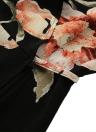 Moda Cardigan Floral Imprimir Mini-Tie Mulheres Mini vestido