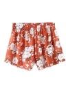 Summer Boho Print Elástico de alta cintura Casual Beach Shorts