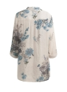 Vintage Floral Printed Elegant 3/4 Sleeve Loose Casual  Women's Blouse