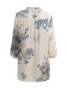 Vintage floral impreso elegante 3/4 manga suelta blusa de las mujeres ocasionales