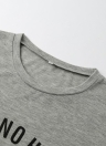 Fashion  Letter Print O-Neck Short Sleeves Casual T-Shirt