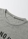 Fashion Letter Print O-Neck manches courtes T-shirt décontracté