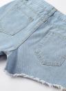 Las mujeres bordaron el dril de algodón rasgó los cortocircuitos de la cintura alta