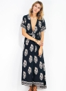 Sexy Women Mini Chiffon Dress Geometric Print O-Neck Sleeveless Casual Elegant Dress Black