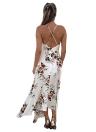 Sexy  Deep V Neck Floral Print Asymmetrical Bohemian Women's Dress