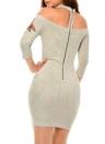 Bordado floral atractivo del vestido Bodycon de las mujeres elegantes del hombro