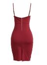 Женщины Погружение V шеи без рукавов повязку зашнуровать вверх Bodycon платье