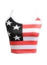 Sexy Summer Camis  American Flag Star Stripe Print Sleeveless Tank Top