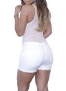 Sexy Bodycon Denim Destruido Frayed Hole Zipper Mujer Pantalones cortos Jeans