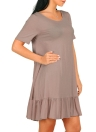 Summer Solid Color Short Sleeve Draped Casual Tops T-Shirt Dress