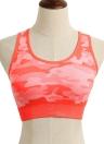 Moda Camouflage Seamless Fitness Sutiã de esportes acolchoado para mulheres