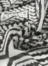 Capispalla Kimono in chiffon con stampa geometrica