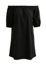 Sexy Solid Off Shoulder Backless Short Sleeves Women's Casual Dress