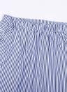 Moda rayas asimétricas volantes vendaje Hight cintura de la falda de las mujeres