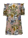 Sexy Off-Shoulder Flower Print Slash Neck Casual Women's Dress