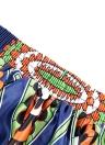 Sexy Pleate Vintage Blumendruck Hohe Taille A-Linie Midi Damen Rock