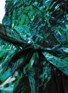 Sexy V Neck Leaf Print Long Sleeve Leaves Slim Belted Women's Mini Dress