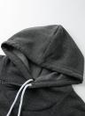 Mode Long Sweater Solid Long Sleeve Pockets Zipper Hoodies pour femmes