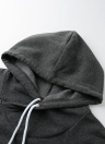 Moda Camisola comprida Bolsos sólidos de manga comprida Zipper Hoodies das mulheres