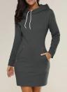 Magliette lunghe solide del maglione lungo della maglietta delle zip della maglietta lunga di modo
