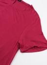Moda Solid A-Line vestido de cuello redondo de manga corta de las mujeres vestido casual