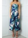Summer Strapless Geometric Print Calças sem mangas de mamilos das mulheres