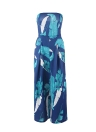 Summer Strapless Geometric Print Pants Sleeveless Women's Rompers
