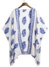 Летний бикини обложка Цветочный пляжный костюм Женское кимоно