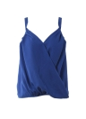 Fashion  Chiffon  V Neck Strap Draped Asymmetrical Solid Women's Cami