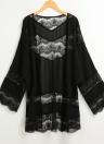 Art und Weise Sommer-Chiffon- Blumenspitze Boho lose Abdeckung herauf den Kimono der Frauen