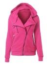 Manteau à capuche zippé à capuche à manches longues à l'automne hiver à capuchon pour femme