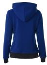 Outre-hiver Casual Sacs à manches longues Zipper Hoodies pour femmes