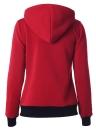 Otoño Invierno Casual manga larga bolsillos Zipper mujeres Hoodies