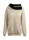 Autumn Winter  Casual Solid  Sweatshirt Pocket Long Sleeve Women's Hoodies