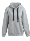 Fashion Side Zipper Hooded Neck Drawstring Long Sleeves Women's  Hoodies