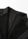 Herbst-Frauen-Jacken-Spitze, die dünnen Klage-ein Knopf-beiläufigen Mantel-Blazer spleißt