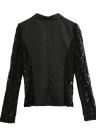 Autumn Women Jacket Lace Splicing Slim Suit One Button Casual Coat Blazer