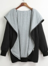 Autumn Winter Hoodies Zip Up Long Sleeve Plus Size Loose Women's Jacket