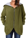 Autumn Winter Hoodies Zip Up manga comprida mais tamanho Loose Women's Jacket