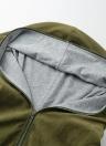 Autumn Winter Hoodies Zip Up manga comprida mais tamanho Loose Women's Jacket