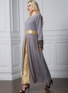 Fashion Long Sleeve Maxi Islamic Kaftan  Women's Muslim Dress